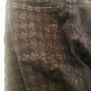 J brand gray houndstooth skinny jeans size 28